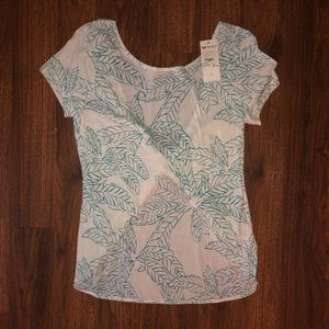 NWT Roxy Open Back Knot Top